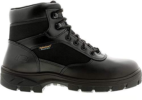 Skechers Wascana, Botas Clasicas para Hombre, Black Leather W Textile Black, 45 EU