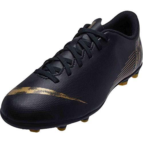 Nike Vapor 12 Club Gs MG Fußballschuhe, Schwarz (Black/MTLC Vivid Gold 077), 37 EU
