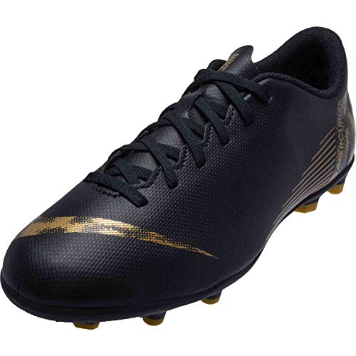 Nike Vapor 12 Club Gs MG Fußballschuhe, Schwarz (Black/MTLC Vivid Gold 077), 38 EU