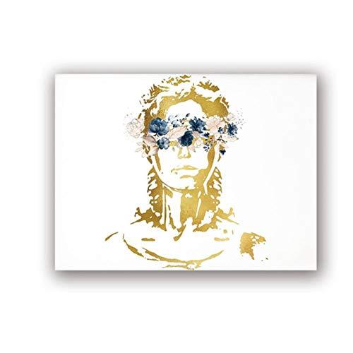 WLKQY Póster de arte en acuarela para abogado, impresión en lienzo con tablero de imágenes para estudiante, póster con impresión artística para abogado, 50x70 cm sin marco