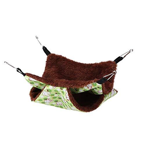 Hamster Hangmat, zachte tweelaagse huisdier, hangmat, hangmat, knaagdier, hangmat voor ratten, hamster Chinchillas en eekhoorns, 20*20cm