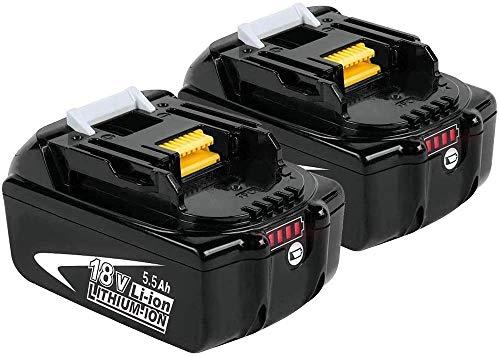 2 X DOSCTT BL1860B Akku Ersatz für Makita 18V Li-ion Batterie BL1860 BL1850B BL1840B BL1830B BL1850 BL1840 BL1830 BL1815 194205-3 194309-1 LXT400