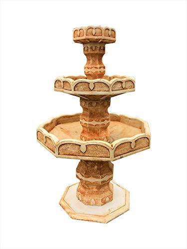 Antikes Wohndesign Steinbrunnen Springbrunnen Kaskade Terracotta Zierbrunnen Brunnen Wasserspiel Gartenbrunnen