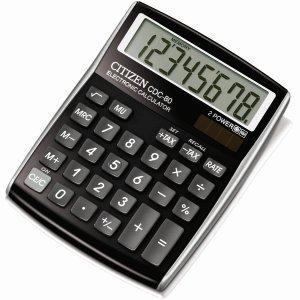 Citizen Taschenrechner CDC080 8-stellig Batterie/Solar schwarz