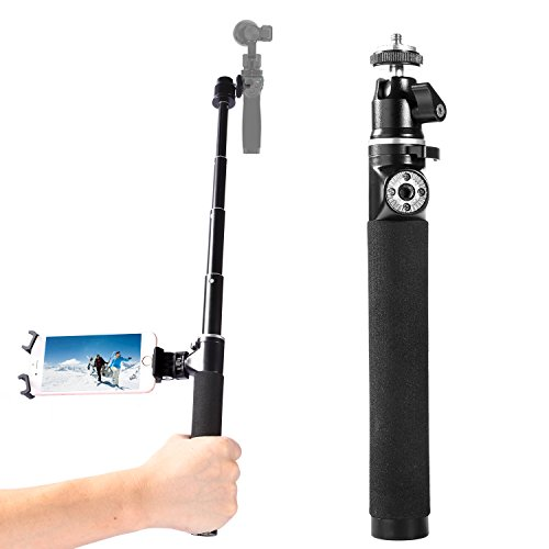 pangshi H100D-63 Extension Rod Pole Selfie Stick for DJI OSMO Handheld 4K Camera