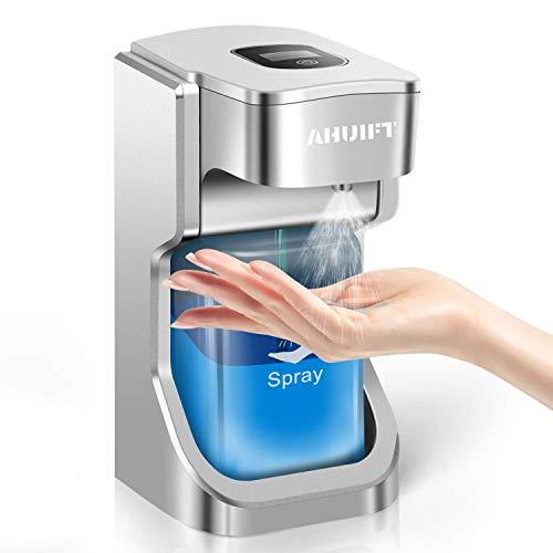 AHUIFT Dispensador Automático de Alcoholsin con Sensor Dispensador de Jabón Eléctrico para Cocinas y Baños, Lugar Público 500ml