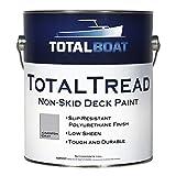 TotalBoat TB-TREADGG Non-Skid Deck Paint, Marine-Grade Anti-Slip Traction Coating for Boats, Wood, Fiberglass, Aluminum, and Metals (Gray, Gallon)