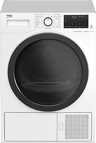 Beko DE8544RX2 Kondensationstrockner mit Wärmepumpentechnologie/Hygiene Trocknen & Hygiene Auffrischen/bis zu 24 h Startzeitvorwahl/elektronische Feuchtemessung, weiß