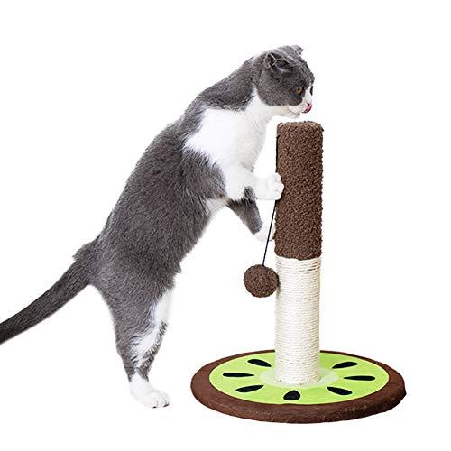 Bidason 猫 爪とぎ 小型 キャットタワー 猫用 爪磨き キャットポール つめとぎ おもちゃ 天然サイザル麻 組立分解簡単 猫タワー キャットポール