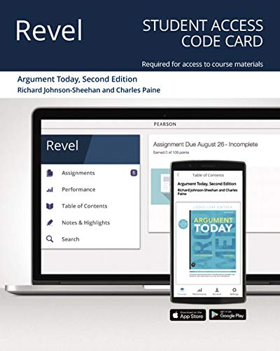 Revel for Argument Today -- Access Card