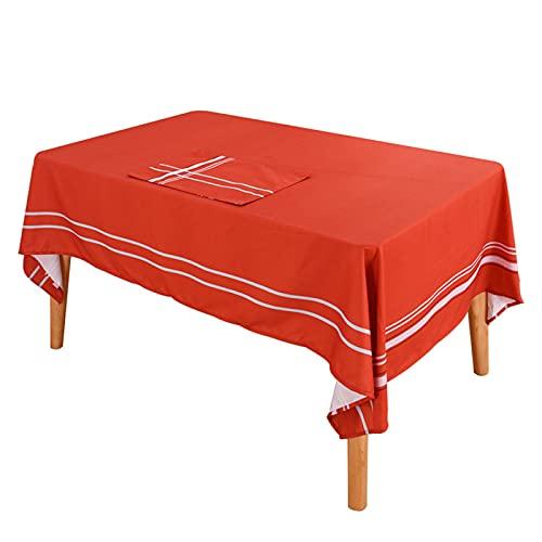 Tavolino Quadrato Tovaglia Rettangolare Antivegetativa Cucina Tovaglia Hotel Tovaglia Impermeabile Molti Colori Adatta per Soggiorno Decorazione Festa Festa Giardino Esterno 140x200cm