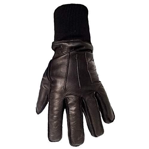 Alpha Industries B3 Gloves Echtleder Handschuh Gefüttert Neu, Farbe:black, Größe:XL
