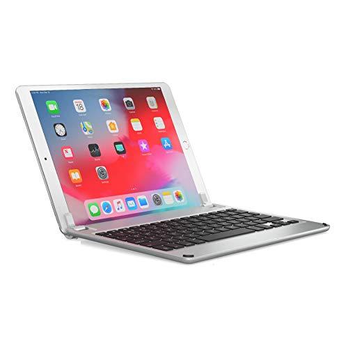 BRYDGE 10.5, Hochwertige Bluetooth Tastatur aus Aluminium, Deutsches Layout QWERTZ, für das iPad Pro 10.5 und das iPad Air 10.5 (3. Generation), silber