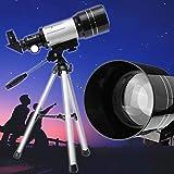Jukkre Astronomical Telescope Monocular Professional with Aluminum Tripod Barlow Lens Eyepiece Moon Filter