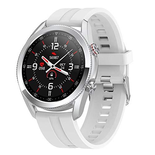 Bluetooth Call L19 Moda Moda Smart Watch Mujeres Hombres Deportes Smartwatch Caso De Aleación IP68 Relojes Inteligentes A Prueba De Agua Reloj iOS Android,A