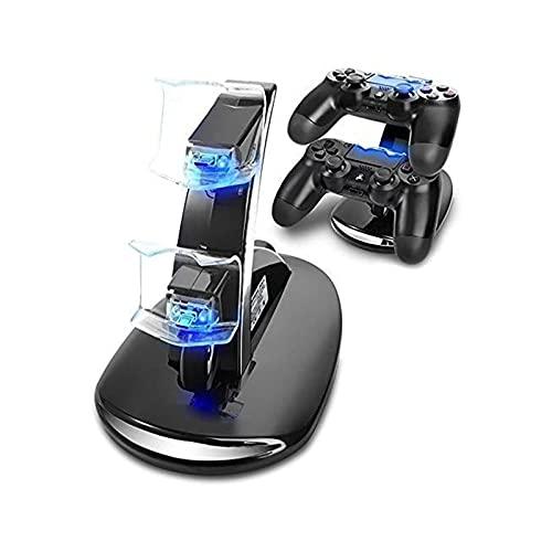 Mando PS4 Dock Station Stand , USB Dual Base Controller PS4 Stand for PS4 / PS4 Pro / PS4 Slim Controlador inalámbrico Gamepad Soporte de llenado rápido con indicador LED