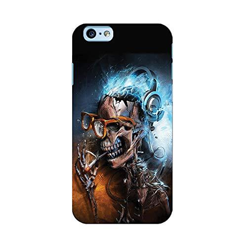 EREMITI JEWELS Cover Personalizzata Waterproof Ultra Resistente DJ Skull Teschio Smartphone Compatibile iPhone (iPhone XR)