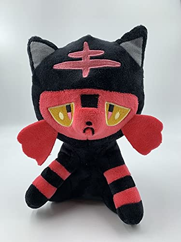 LETAMG Gato de Punto de Fuego de 20 cm, muñeco de Peluche de Bola de Leones Marinos, muñeco de marioneta de Peluche Almohada Regalo de cumpleaños para niños