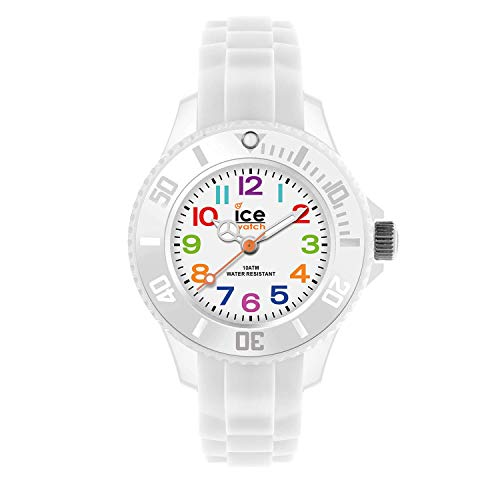Ice-Watch - ICE mini White - Boy's (Unisex) wristwatch with silicon strap - 000744 (Extra small)