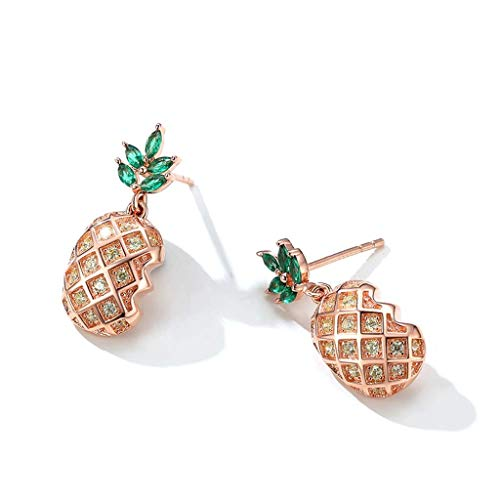 CMXUHUI Fashionable and elegant, exquisite style, a good c Earring Sterling silver pineapple earrings temperament long net red earrings female high-end earrings Fashion Jewelry