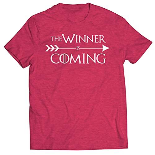 lepni.me Camisetas Hombre ¡Viene el Ganador! Divertido Atuendo Motivacional para fanáticos de los Deportes (M Brezo Rojo Multicolor)