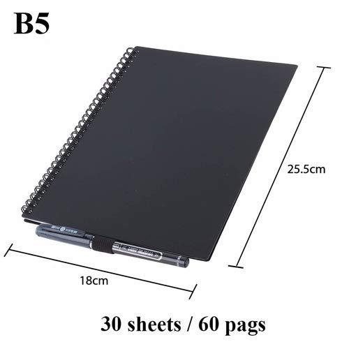 AAJTCT Intelligent herbruikbaar notitieboek, A5, B5 papier met spiraalbinding, notebook opslag in de Cloud Flash voor Office Supplies school App