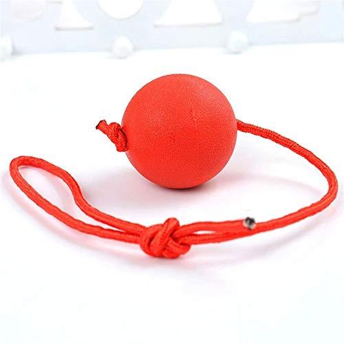 Kalmerende Bed Plush Pet Gebitsreiniging Chew Elastic Balls Burly Rubber Kluis Niet-toxisch Hondenspeelgoed Dog Tag (Color : Red, Size : L)