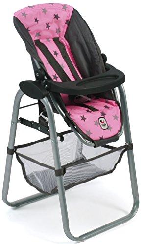 Bayer Chic 2000 655 83 Chaise Haute pour poupée Motif Petites étoiles Gris