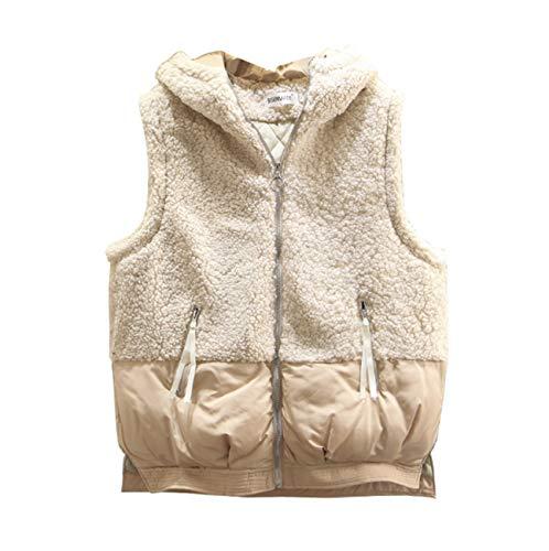 GL SUIT Dames Winter Padded Gilet Grote Maat Hooded Body Warmer Vest Fleece Gewatteerde Taillejas Mouwloos Jas Bovenkleding voor Wandelen Reizen