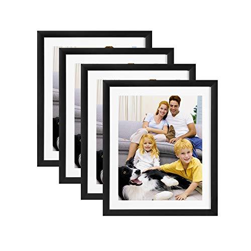 Cliusnra Marco Fotos Pared 25,2x30cm: 4 Unidades con Alfombrilla Negra de plexiglás Alfombrilla para mamá Memoria niña Abuela...