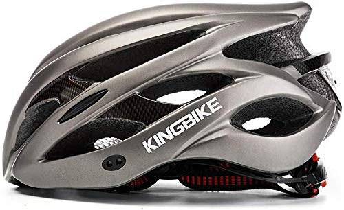Helmet helm met led-staart-vizier met led-lichtnet van BikeHelm, dik wegverkeer van de fiets, lichte helm, mannen en vrouwen, fietshelm 002-L
