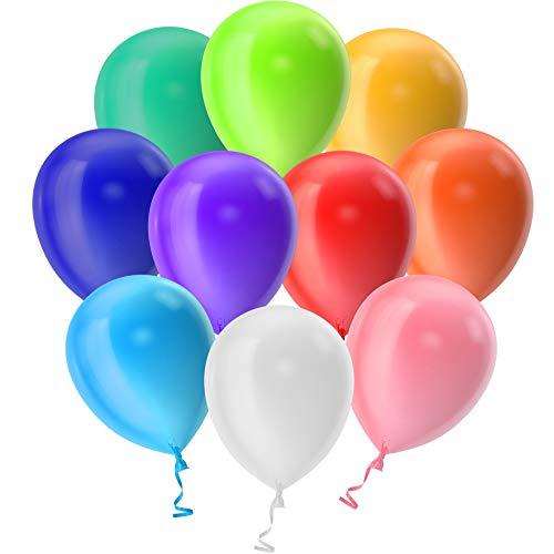 100 Palloncini Compleanno Decorazioni Feste Happy Birthday Addobbi per Feste di Compleanno Bambina Bambini Matrimonio Baby Shower Decorazioni Compleanno Gonfiabili con Bombola Elio per Palloncini