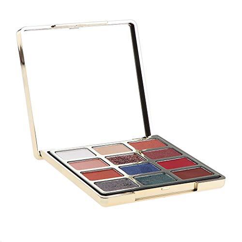 Sharplace Maquillage Palette Ombre à Paupières Mat Couleurs 12 Couleurs - Blue Stars Sand River