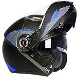 Lente Doble Levante Cascos de Motocross Material ABS Clásico Mountain Road Casco para Motocicleta Casco de Seguridad Modular anticolisión 23 Colores Opcionales