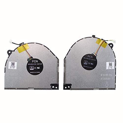 Ventilador de CPU ndliulei Nuevo reemplazo de ventilador de enfriamiento de CPU para computadora portátil para Lenovo Legion Y7000 Y530-15ICH Y530-15ICH-1060 P / N: DC28000DKF1 DC28000DKF0 Accesorios.