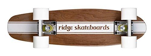Ridge, Mini Skateboard in legno, Bianco (Bianco)