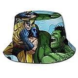 Bucket Hat Hulk Bucket Sun Hat para Hombres Mujeres -Protección Gorra de Pescador de Verano Empacable para Pesca, Safari, Paseos en Bote en la Playa Negro-A0