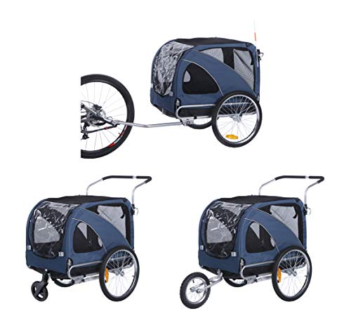 Sepnine pet cart 3 in1 Large pet Dog Bike Trailer Bicycle Trailer with Stroller and Jogger 10202...