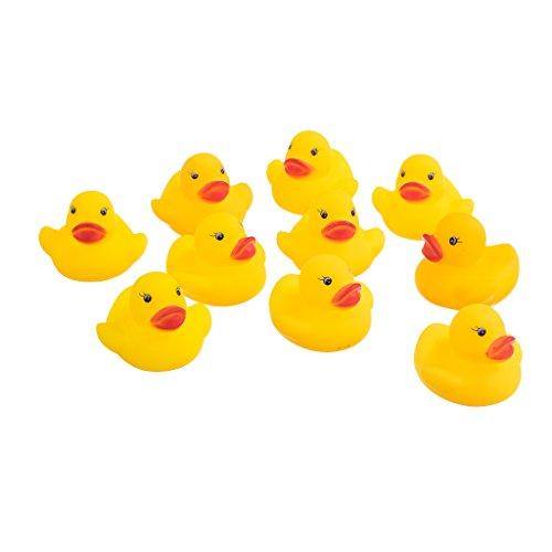 【ノーブランド 品】玩具 子供 風呂 シャワー アヒル形 黄色 ギフト 10個