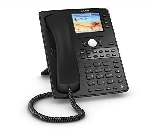 Snom D765 IP-Telefon, SIP-Tischtelefon, 12 SIP-Identitäten, hochauflösendes Farbdisplay, 16 LED-Funktionstasten, Bluetooth, USB, Gigabit, 2x Gigabit-Ethernet, Schwarz, 00003917