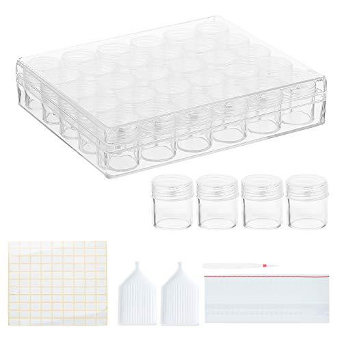 BENECREAT 30 PCS Cajita de Plástico Transparente con Recipiente de Almacenamiento Grande,...