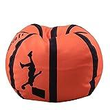 Longay 26inch Lovely Basketball Home Stuffed Animal Plush Toy Storage Organizer Bean Bag Chair Soft Pouch (B)