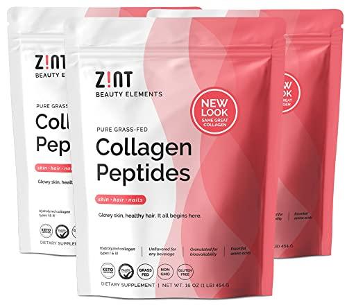 Zint Collagen Peptides Powder (48 oz Bundle, 3 x...