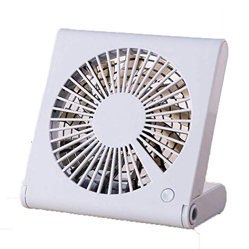 WRYCN Opvouwbare, draagbare miniventilator voor op het bureau met USB-ventilator met drie snelheden voor thuis