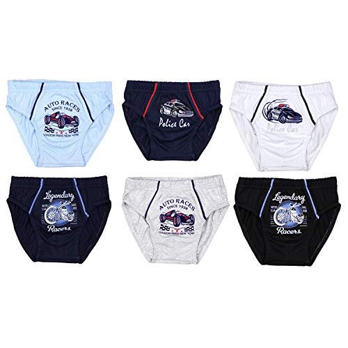 TupTam Jungen Unterhosen Slips o. Boxershorts 6er Pack, Farbe: Farbenmix, Größe: 92-98