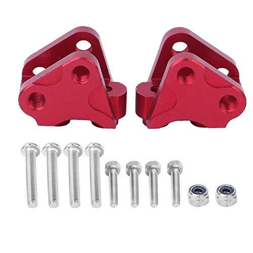 keenso Kits de Montaje de Enlace de Acoplamiento de Choque Inferior Trasero Delantero 2PCS Se Adapta a los Kits AXIALES SCX10-II(Rojo)