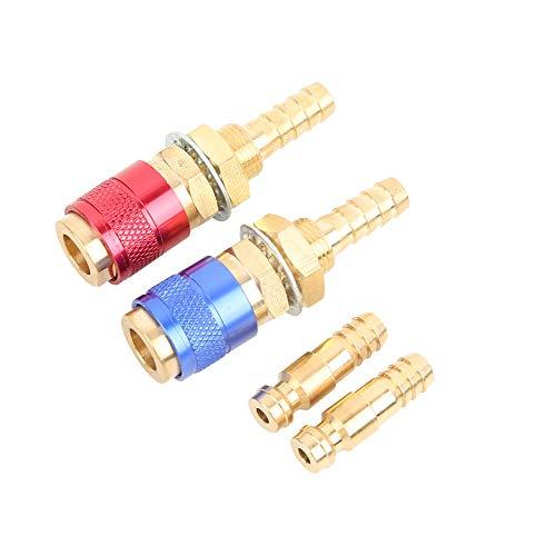 oueaen Conector rápido 2pcs 8 mm Adaptador de Conector refrigerado por Agua y refrigerado por Agua para la antorcha de Soldadura TIG