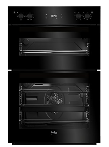 Beko BDF22300B Large Capacity Electric Built-in Fan Double Oven With LED Programmer Black