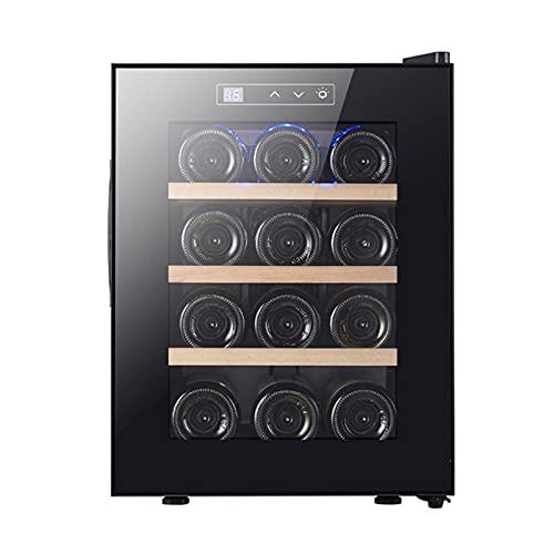 Botella Enfriador De Vino Refrigerador-Bodega Independiente, Funcionamiento Silencioso Refrigerador De Vino Control De Temperatura Digital Enfriador De Vino Puerta De Vidrio,Metal Shelf