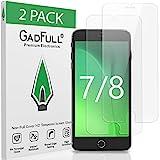 GadFull 2 Stück HD Displayschutzfolie aus Panzerglas für iPhone 7